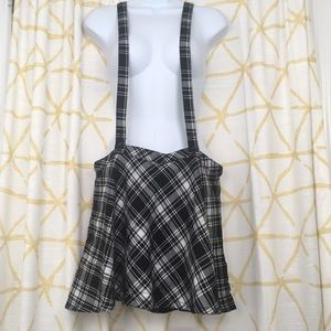 TRIPP NYC Plaid Overall Skirt Goth School Girl